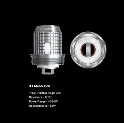 Fireluke M Replacement Coils 5pk By FreeMax (Fireluke M & Fireluke 2)
