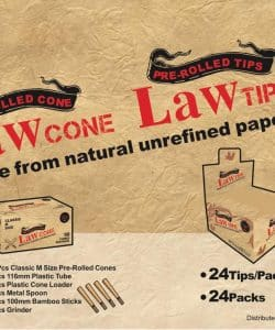 LAW Pre-Rolled Tips 24pk
