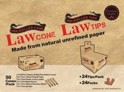 LAW Pre-Rolled Cones M Size