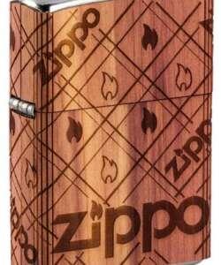 Woodchuck USA Zippo Cedar Wrap #49331 By Zippo