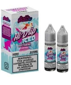 Iced Nectarine Lychee By Hi Drip Salts 2x15ml